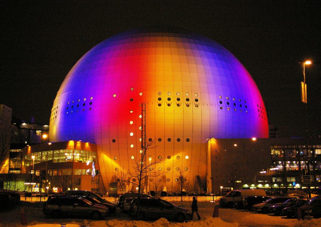 Największa sferyczna budowla na świecie jest w Sztokholmie