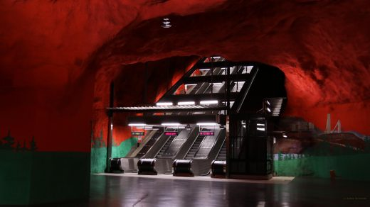 Stacja Solna Centrum na niebieskiej linii