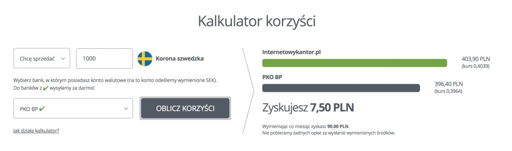 Gotówka w Szwecji i kantory internetowe
